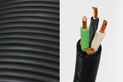 8/3 SOOW SO Cord 100 ft HD USA Portable Outdoor Indoor 600 V Flexible Wire cable