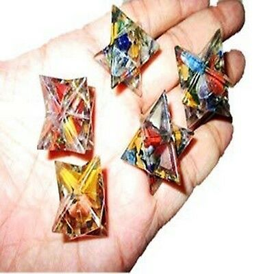 Lot of  5 Orgone Merkaba Platonic Healing Vital Life Force Piezo Electric Aura