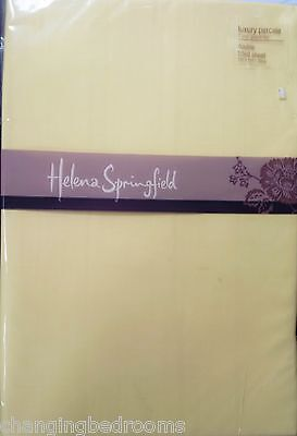 Helena Springfield 180T/c Percale Double Or King Size Lemon Fitted Sheets