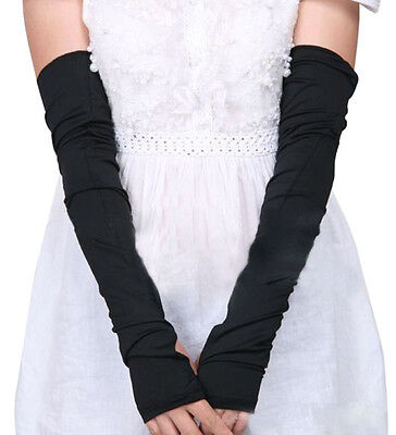 Summer Lady One Pair Cotton Stretchy Long Fingerless Arm Sleeves Gloves