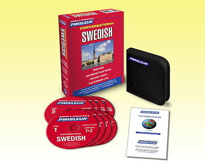 New 8 CD Pimsleur Learn to Speak conversational Swedish Language (16 Lessons)