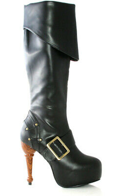 Adult Womens Pirate Wench Boots Shoes Accessory Fancy Dress Halloween Costume