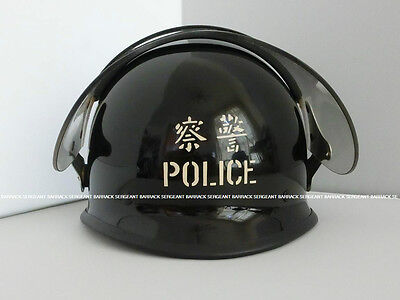 Genuine Obsolete 70s-80s Royal Hong Kong Police Force Riot Helmet Very Limited