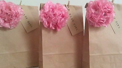 Personalised Vintage Brown Paper Favour Bags/Wedding/Christening/Party/Hen/Gift