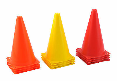 "Sets Of 4, 8 Or 20 Cones ( 22Cm 9"" ) Small Practice Cones Witches Hats Training"