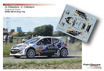 Decal 1/43 RDS43031 Melisa Debackere - Peugeot 207 S2000 - Rally Ypres 2014
