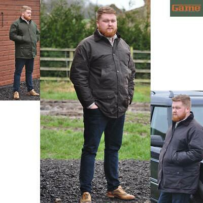Mens GAME British Made Padded Country Wax Cotton Rain Jacket