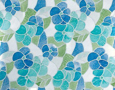 DC Fix Blue/Green Stained Glass Self-Adhesive Window Film, 3460213, New
