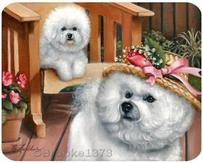 BICHON FRISE mousepad from painting DOG ART mouse pad