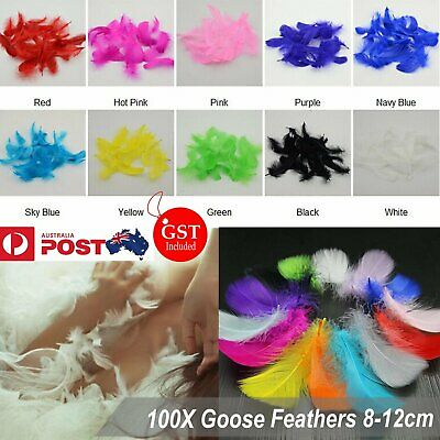 100X Goose Feathers 8-12cm Event Feather DIY Crafts Beautiful Wedding Party Deco