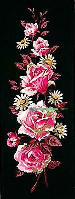 Margot de Paris Tapestry/Needlepoint Canvas – Roses on Black