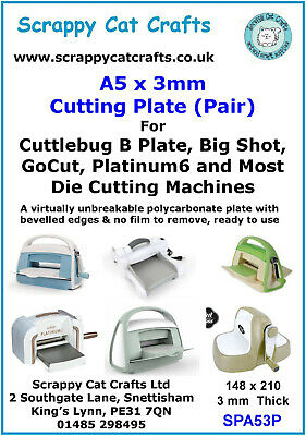 by Scrappy Cat Crafts Pair Hobbycraft A5 Cutting Plate A5 x 3mm SPA53P  8