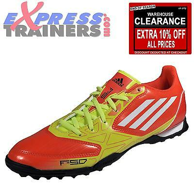 Adidas Men's F5 TRX Turf Trainers High Energy Red * AUTHENTIC *