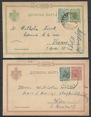 Montenegro covers 1897+1899 uprated PCs to Vienna