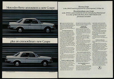 1978 MERCEDES-BENZ 280CE & 300CD Extraordinary New Coupe - 2 Page - VINTAGE AD