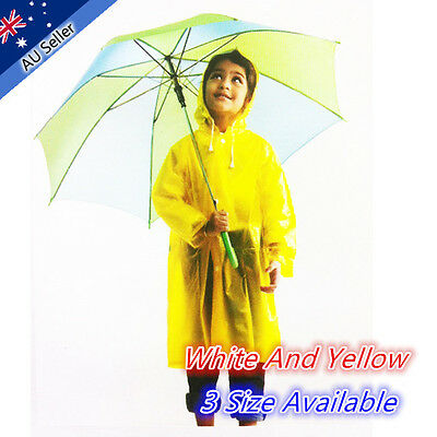 PVC Kids Raincoat Jacket Outdoor Waterproof Cycling Unisex Boy Girl Poncho