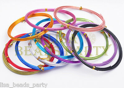 Wholesale 5/3/2Meters 18/15/12Gauge 1.0/1.5/2.0mm Aluminum Wire Crafts Jewelry