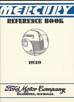 Mercury Reference Book - 1939