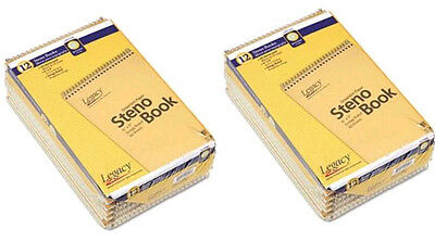 """Spiral Bound Legal Pads 6"""" X 9"""" Steno White 80 Sheets/Pad  Lot=12 Pads"""