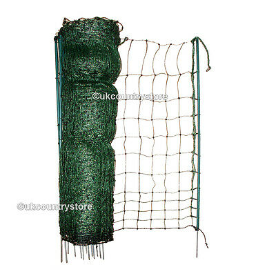 25m Electric Poultry Netting 1.1m  - High Quality Flexible Net - Chicken Fencing