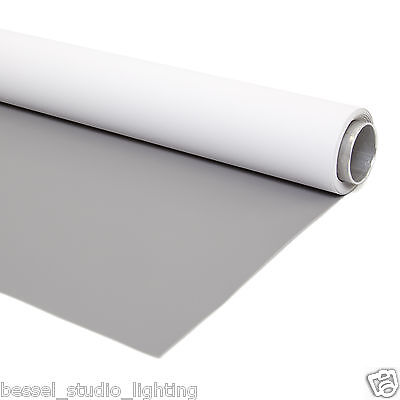 2m x 3m 2 in 1 Dual Sided White High Key & Midtone Grey Photo Background Vinyl