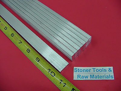 "8 Pieces 1/4"" X 3/4"" ALUMINUM 6061 FLAT BAR 10.5"" long Solid T6 .25 Mill Stock"