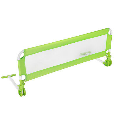 Bed guard toddler safety childs bedguard baby folding mesh rail 102cm green