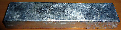FOUR POUNDS (4 lbs.) 99.8%  ZINC BULLION INGOT BAR METAL