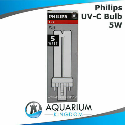 Philips 5W Ultra Violet Clarifer Lamp Light Bulb Fish Pond One ClearTec UV-C UV