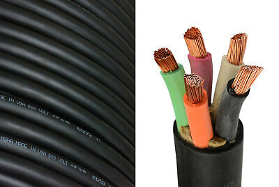 4/5 SOOW SO Cord 20 ft HD USA Portable Outdoor Indoor 600 V Flexible Wire cable
