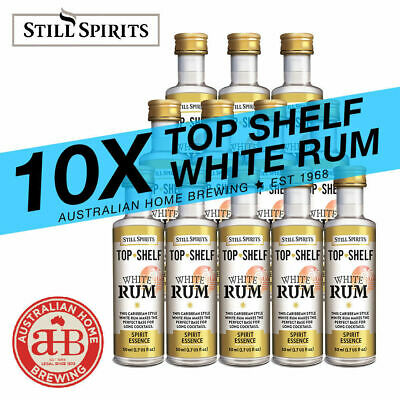 10x Still Spirits Top Shelf White Rum Essence home brew spirit making bacardi