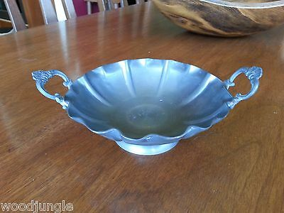 RARE Vintage WALL ZINN PEWTER BOWL GERMANY Antique