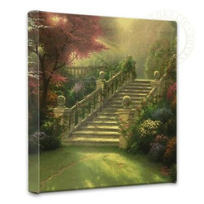 Thomas Kinkade Stairway To Paradise 14 x 14 Gallery Wrapped Canvas