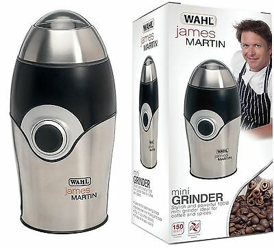 Wahl ZX595 James Martin 150W Chrome Elecrtic Mini Coffee & Spices Grinder