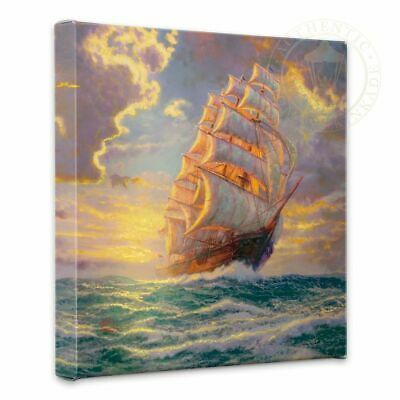 Thomas Kinkade Wrap Courageous Voyage 14 x 14 Gallery Wrapped Canvas