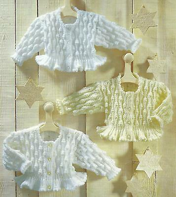 "Baby Knitting Pattern Jacket 16-28"" Double Knitting 119"