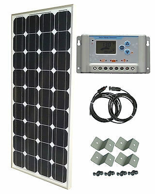 100W Solar Panel panneau solaire 30A 12V LCD charge controller cable brackets