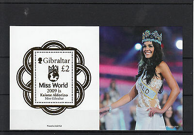 Gibraltar 2010 MNH Miss World 2009 Kaiane Aldorino 1v Sheet