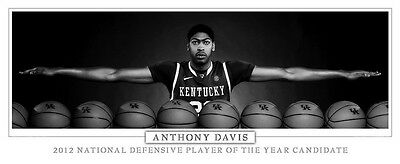 """026 Anthony Davis - NBA Basketball All Stars Player Wings 34""""x14"""" Poster"""