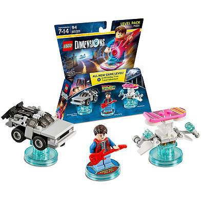 Lego Dimensions Lot Of 18 Back To The Future 71201 Level Pack Marty Mcfly New!