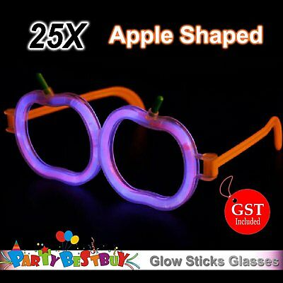 15X Multi Color glow sticks Apple shaped glasses Light Glow in the dark Party