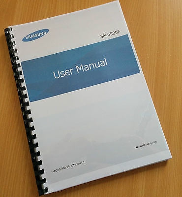 Printed Samsung Galaxy S5 Instruction Manual / User Guide SM-G900F