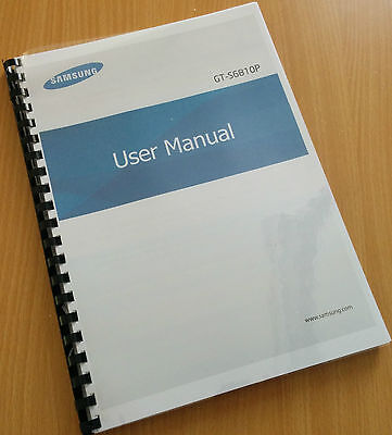 Printed Samsung Galaxy Fame Instruction Manual / User Guide GT-S6810P