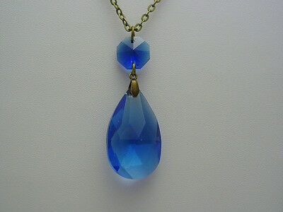 Collection Wendy ~ Witches Blue Sapphire Faceted Pre-Cursed Necklace