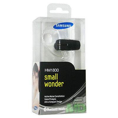 NEW OEM Samsung HM1800 Small Wonder Black HandsFree Bluetooth Headset ~ RETAIL ~