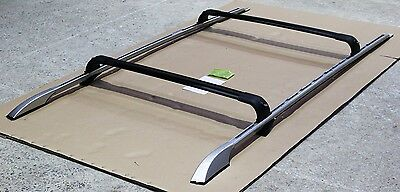 Land Rover Discovery 3 + 4 Luxury Extended Silver Roof Rails + Cross Bars Set