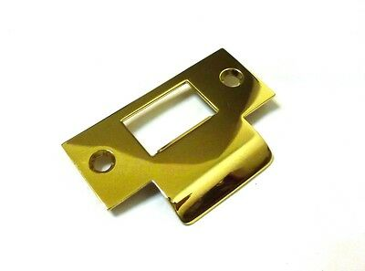 "(1) Decorlux TS03 003 2.75"" Solid Brass T-Strike Door Plate POLISHED BRASS NEW!"