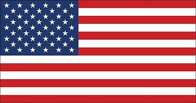 3x5.7 inch Official Size American Flag Sticker -USA US decal america united star