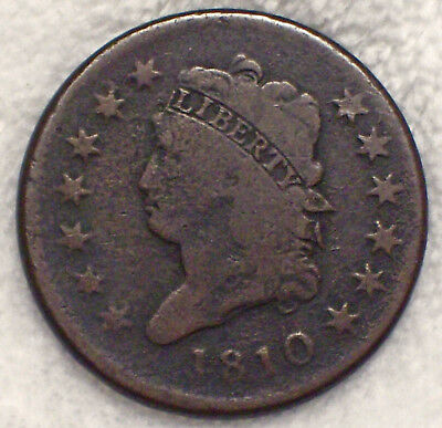 1810 Classic LARGE CENT Nice Detailing S-283 *RARE Authentic PRICED TO SELL 1C