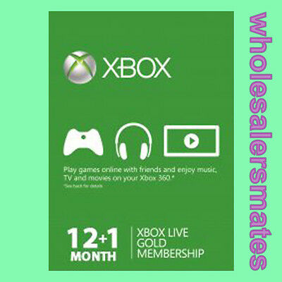 13 Months Xbox Live 12 +1 Month Membership Card for 360 or One AU -FAST DISPATCH